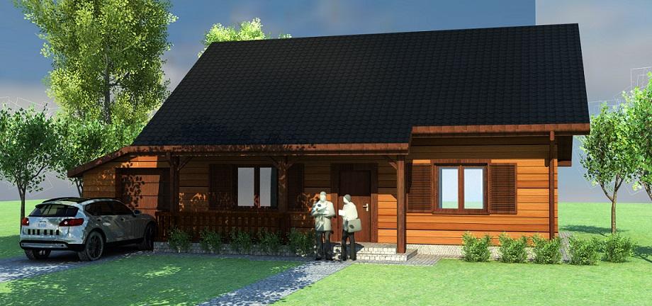 1a gotowy projekt domu z drewna