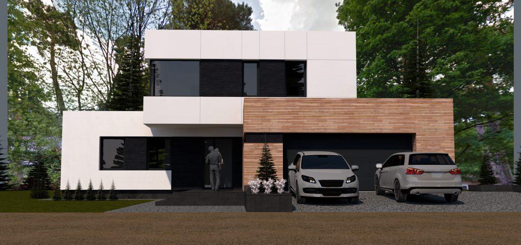 1a nowoczesny projekt domu