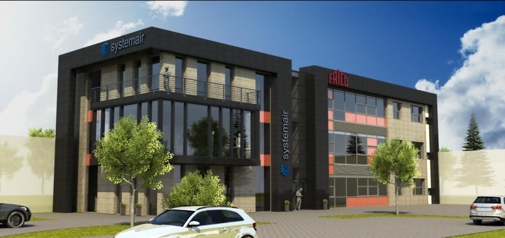 1a projekt budynku biurowego