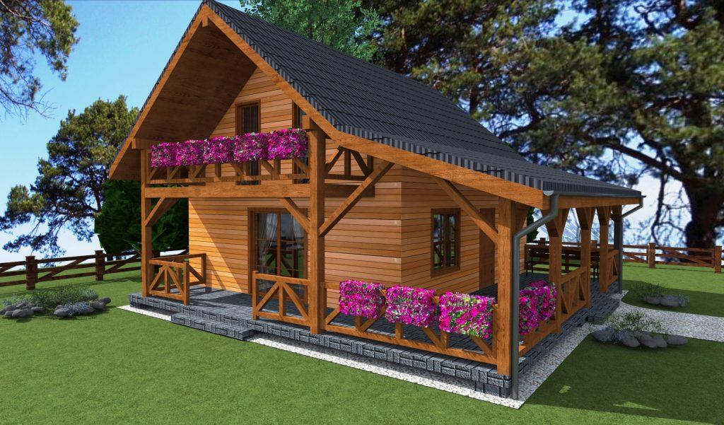 1a projekt domu z drewna