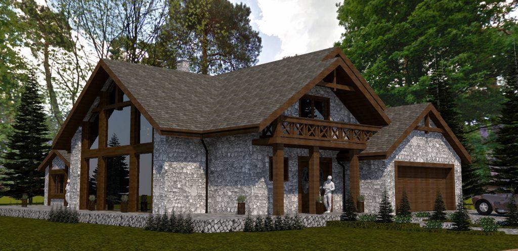 2 projekt domu jednorodzinnego z poddaszem