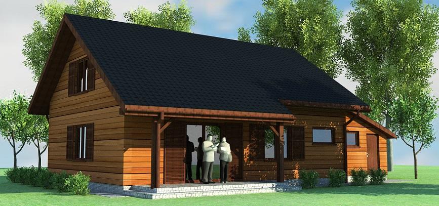 2 projekty domow drewnianych