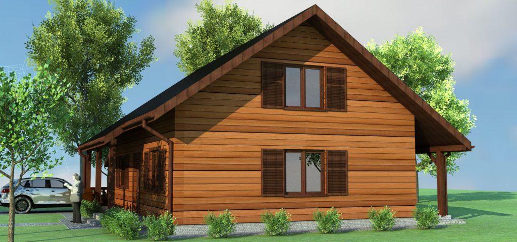 3 domy z drewna projekty