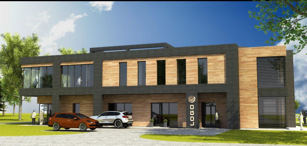 4 projekt budynku biurowego