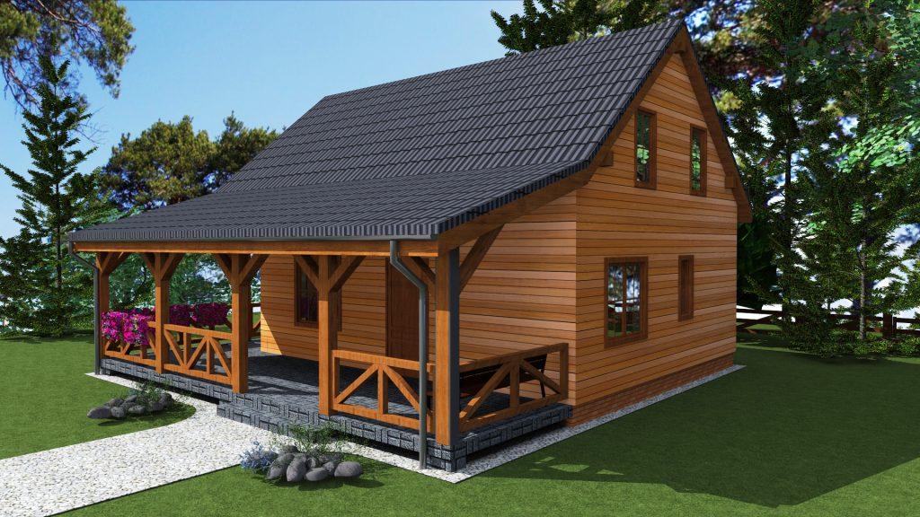 7 domy drewniane projekty