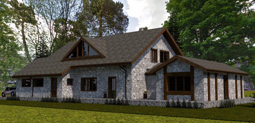 7 projekt budynku mieszkalnego z ogrodem