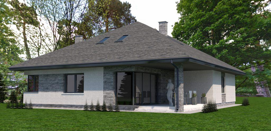 C projekt domu jednorodzinnego