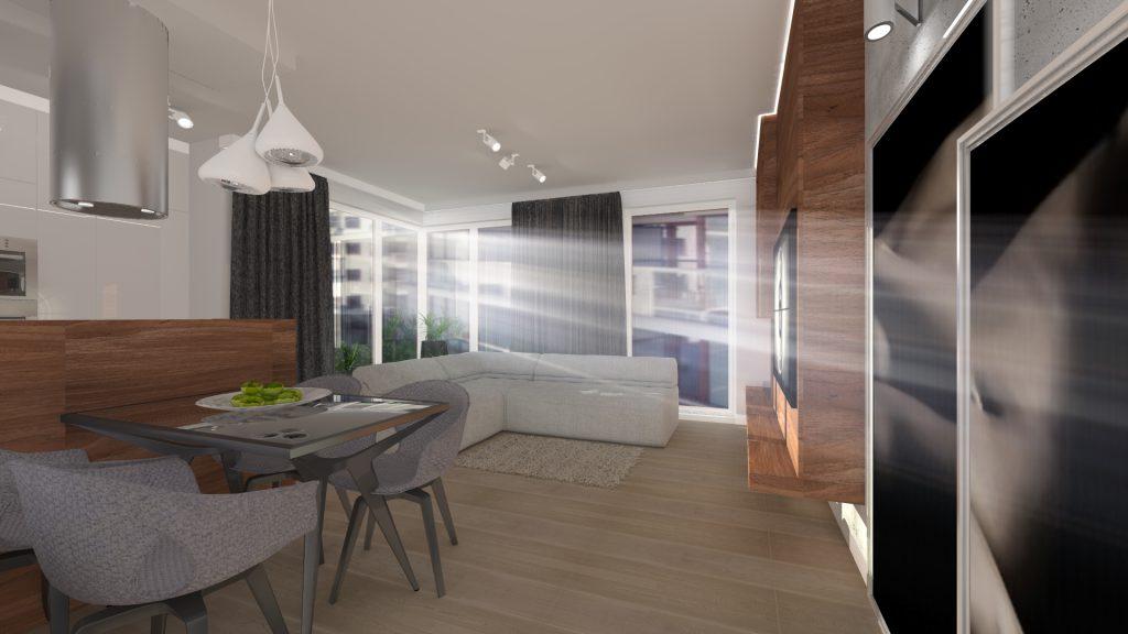 Nowoczesny projekt mieszkania w wyszkowie