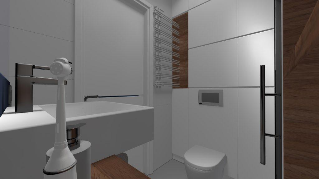 Projekt bialego mieszkania