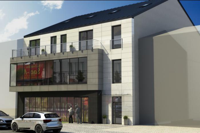 1a budynek mieszkalny z uslugami projekt