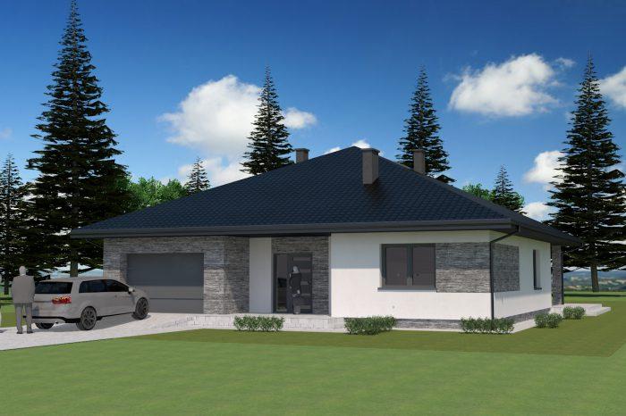 1a nowoczesny projekt domu jednorodzinnego