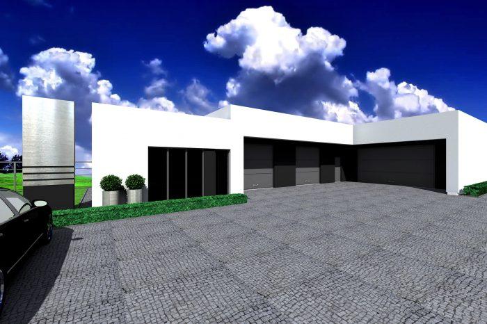 1a projekt budynku uslugowego garaz