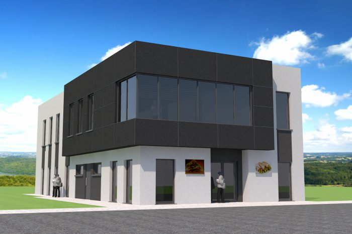 1a projekt budynku uslugowego malej gastronomii