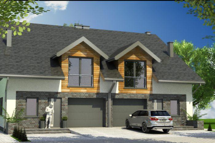 1a projekt domu blizniaczego
