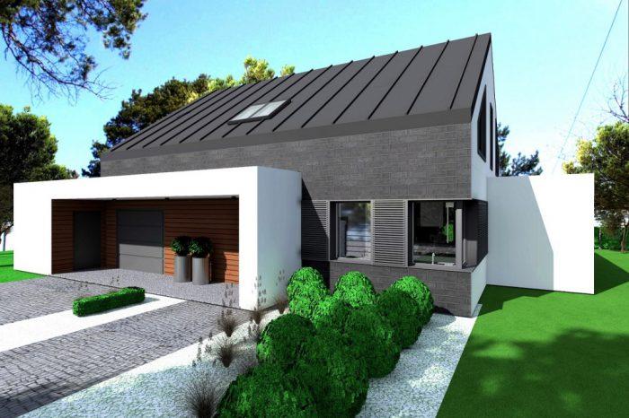 1a projekt domu parterowego z garazem