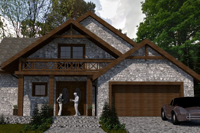 1a projekt domu z poddaszem wyszkow