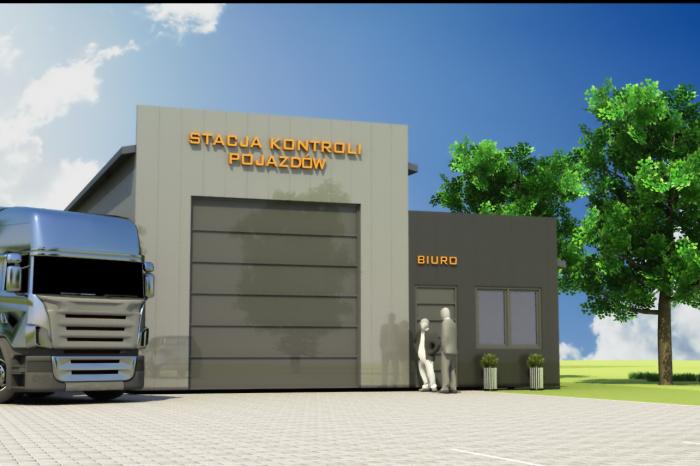 1a projekt stacji kontroli pojazdow